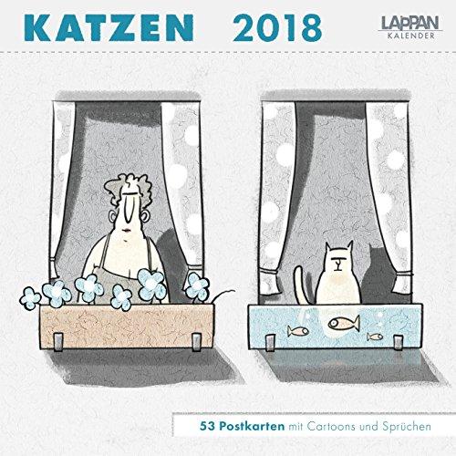 Katzen - Postkartenkalender 2018