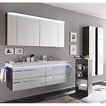 pelipal balto 3 tlg badm bel set waschtisch unterschrank spiegelschrank. Black Bedroom Furniture Sets. Home Design Ideas