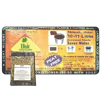 Elixier Kompost aus Kokosfaser, Torf, biologisch Block dehnt sich bis zu 11 Liter 3 Optional Dünger Dünger von Elixir - Du und dein Garten