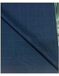 Raymond Men's Wool Blend Suit Fabric(rayTrueStar-checks-3m_Blue)