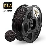 PLA 3D Printer Filament,Enotepad PLA Filament 1.75mm,Dimensional Accuracy 1.75±0.02 mm,Black PLA 1KG Spool