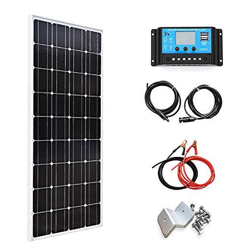 XINPUGUANG 100W 18V kit di moduli per pannelli solari monocristallini pannello fotovoltaico + regolatore solare 10A (100w+10A Controller)