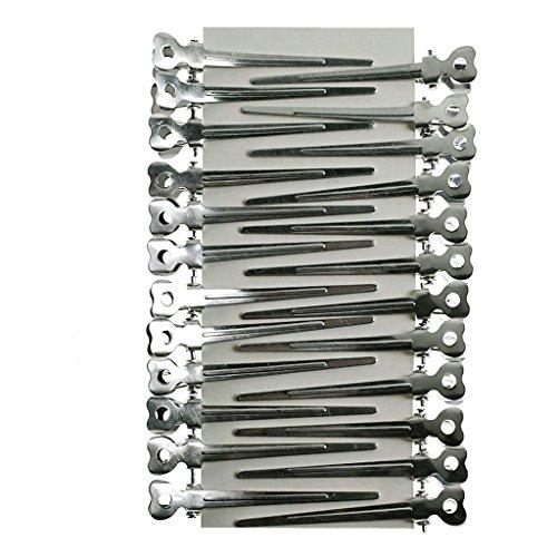 Takestop® set 144 pezzi becchi becco di cicogna spadini in alluminio parrucchiera bigodini capelli accessori acconciature acconciatura
