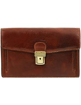 Tuscany Leather Tommy - Elegante Handgelenktasche/Herrentasche aus Leder - TL141442
