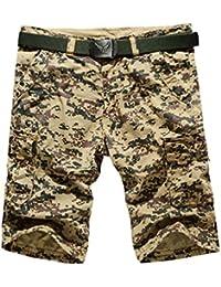 YiJee Cargo Shorts Multi-Poches Camouflage Shorts Bermuda