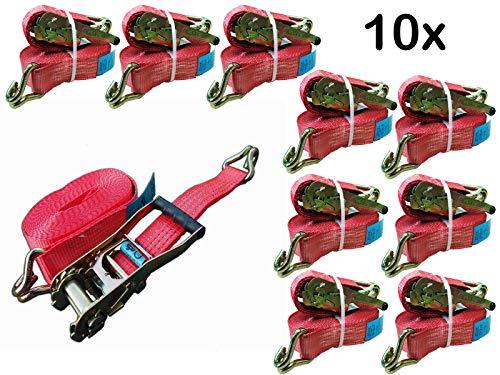 10 x Spanngurt Zurrgurte 8m 5t (2500/5000 daN KG) Zweiteilig 50mm