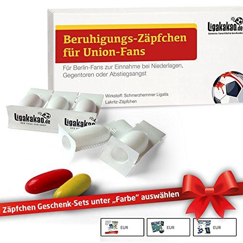 Beruhigungs-Zäpfchen® für Union Berlin-Fans | Für Freunde von Berlin-Fanartikeln, Kaffee-Tassen, Fan-Schals sowie Männer, Kollegen & Fans im Union Berlin Trikot Home