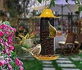 GFYWZ Wilde Vogel-Zufuhr-Kolibri-Automatische Zufuhr mit Dem Metalldach Perfekt Für Garten-Dekoration und Vogelbeobachtung Für Vogel-Liebhaber,Yellow