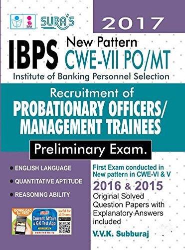 IBPS Bank PO Probationary Officers and Management Trainees Exam Book  available at amazon for Rs.450