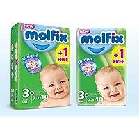 Molfix Couches Bébé 3D Midi Taille 3 (4-9 kg) 9 + 1=10 couches
