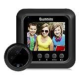 LCD-Bildschirm für Kamera-Türklingel/Türspion Türspion mit 2,0MP HD-Kamera, 2,4-Display, Infrarot, Nachtsicht, 180Grad Weitwinkel, schwarz