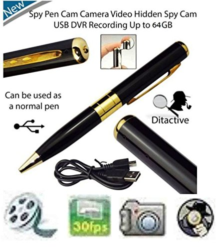 Voltac Spy Hd Pen Camera with Voice-Video Recorder and Dvr-Hidden-Camcorder(Multi-Color) Model 350278