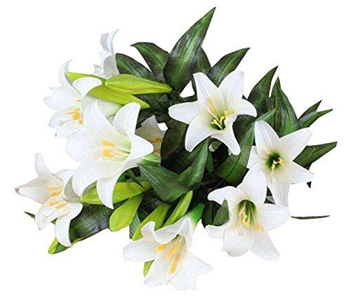 Leben Lange Künstliche Blume Haus / Büro Dekor Wasser freie Lilie