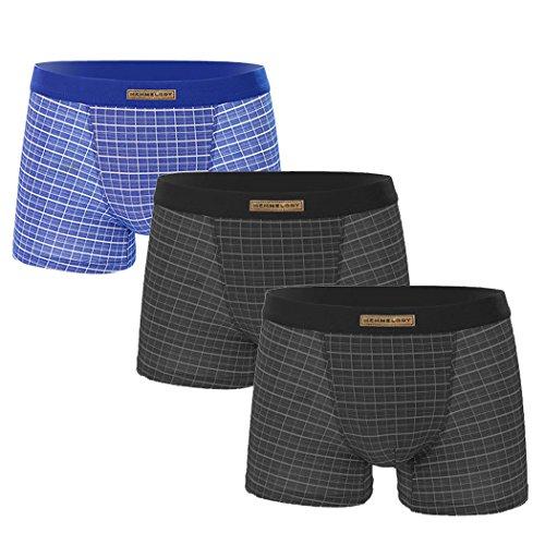 VENI MASEE® Sexy Modal Atmungsaktive Herren Boxer Shorts Unterwäsche Trunks Mehrfarbig03