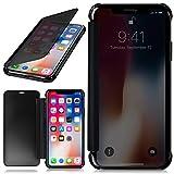 moex Apple iPhone XS Max | Hülle Transparent TPU [ONEFLOW Void Cover] Dünne Schutzhülle Anthrazit Handyhülle für iPhone X s Max Case Ultra-Slim Handy-Tasche mit Sicht-Fenster