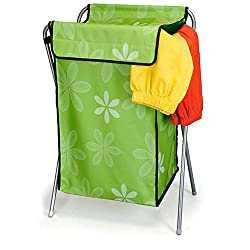 House of Quirk Nylon Mesh Foldable Laundry Basket Easy To Fold Basket - Green