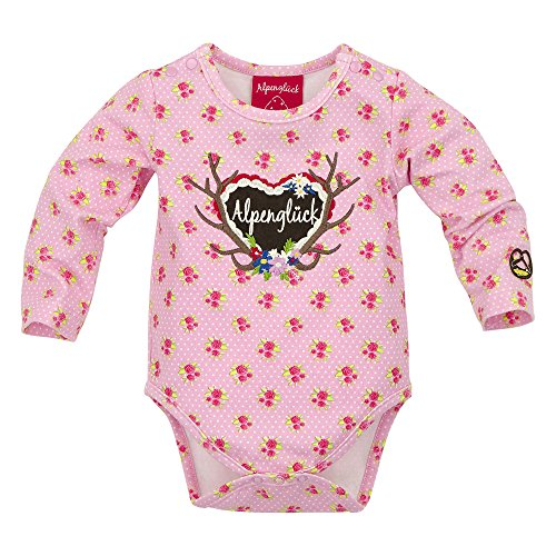 BONDI Body Blümchendruck, Blümchen rose 86 Tracht Baby Mädchen Artikel-Nr.85511
