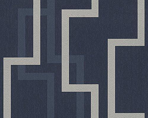 A.S. Création 961882 VliesTapete AS Creation Kollektion Fleece Royal - Royal Blau-tapeten