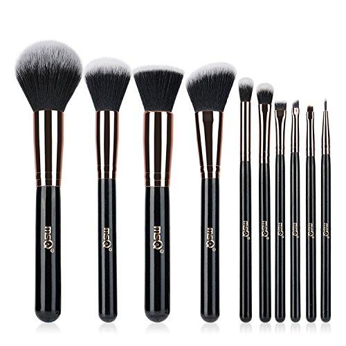 Make-up Pinsel MSQ 10pcs Pro Rose Gold Make-up Pinsel Set & Natural Hair (Foundation Pinsel,...