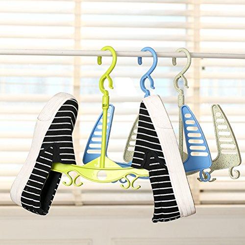 LEORX Colgador Zapatos Secado Estante Percha Organizador Zapatos Perchas de plástico