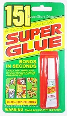 3GM 151 FAST ACTING SUPER STRONG SUPER GLUE, RUBBER - METAL - LEATHER ADHESIVE