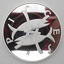 Yoin 2018 Monedas de Plata de Estados Unidos de Piscis para el Recuerdo año Nuevo de