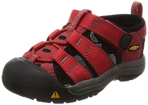 Keen Unisex-Kinder Newport H2 Geschlossene Sandalen, Rot (Ribbon Red/Gargoyle), 38 EU (Lace-up Ribbon)