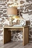 SAM Nachtkommode James aus natur Wildeiche massiv, Nachttisch mit ausreichend Stauraum in rustikalem Design