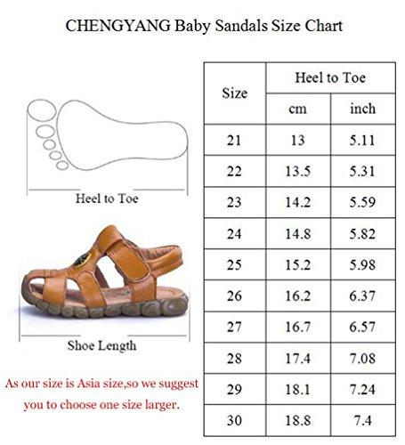 Scarpe Estive Per Bambini - Sandali A Punta Chiusa Bambina Con Plantare Nero Arancione