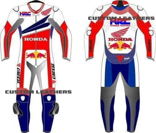 Honda Hrc Completo In Pelle Da Motocicletta In Qualsiasi Tagliacolore