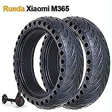 2PC 8 1/2 X 2 Rueda Maciza Compatible con Xiaomi M365, Neumáticos Compatible