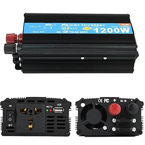 Inverter Low Car Power Inverter 1200W Solar Konverter 24V Drehen 220V, Tablets und Handys Wechselrichter (Starter-pumpe Jump)