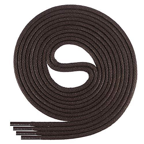 Di Ficchiano-SW-03-dark.brown-110 gewachste runde Schnürsenkel, Schuband, Laces, Durchmesser 2-4 mm für Businessschuhe, Anzugschuhe und Lederschuhe