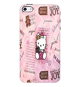 PrintDhaba Kitty D-4535 Back Case Cover for APPLE IPHONE 5 (Multi-Coloured)