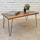 4 Stück Schwarz Eisen Tisch Beine Möbelfüße Tischbeine Haarnadel für Esstische Schreibtische (28 Zoll)