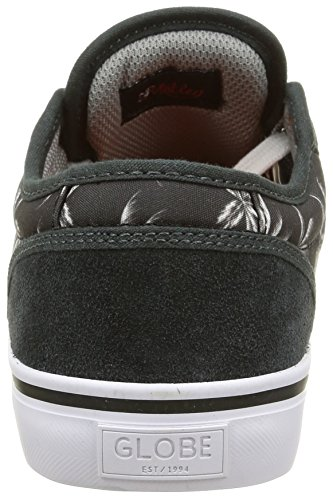 Globe Motley Unisex-Erwachsene Sneakers Schwarz (night/palms/orange)