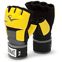 Everlast Unisex Adult Ever-Gel Glove Wraps - Yellow/Black, Small
