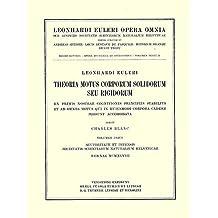 Theoria motuum lunae nova methodo pertractata (Leonhard Euler, Opera Omnia)
