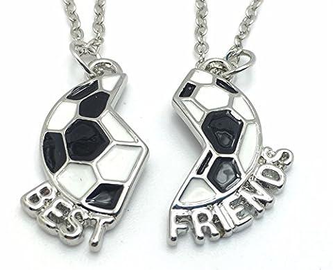 Best Friends 2Stück Fußball-Anhänger an Kette