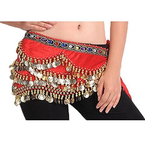 Salsa Tenues - 318 Brillante Sequin Fashion Style Red Belly