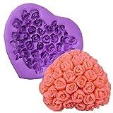 Jushi Stampi per Dolci in Love Rose Fondant Silicone Mold DIY di Cottura stampi per Torta al Cioccolato Gelatina Pudding Dessert Molds