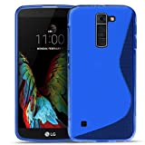 LG K8 Silikon Hülle Case in Blau Cover K8 Schutzhülle