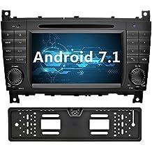 YINUO 7 Pollici Android 7.1.1 Nougat 2GB RAM 2 Din In Dash Quad Core Autoradio Schermo di Tocco Lettore DVD Navigatore GPS Per Mercedes-Benz C-Class W203 / Benz CLK W209 (Con Fotocamera Posteriore 4)