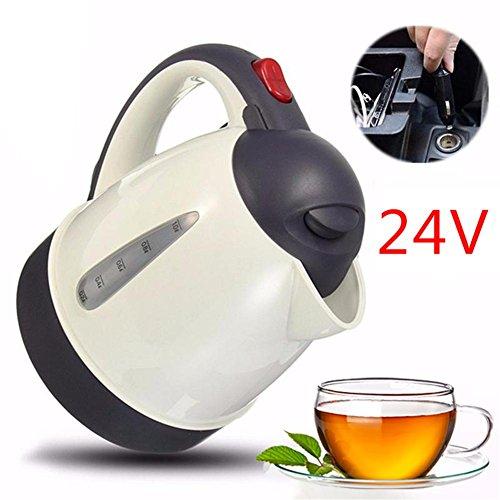 HUVE 24 V Auto Heißer Wasserkocher Tragbare Wasser, Heizung Reise Für Tee Kaffee 304 Edelstahl Große Kapazität Fahrzeug Heizung (1000 ML) -