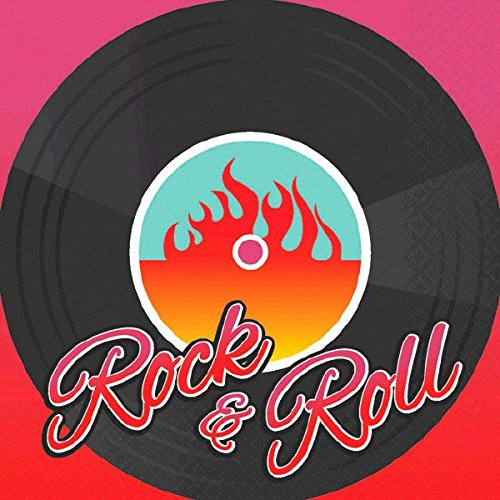 Rock-n-Roll-Servietten-klein-16er-Pack-25-cm-x25-cm-Rockabilly-Party