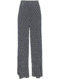MIX_LOT - NEW LADIES POLKA DOT PALAZZO HOSEN BESCHMUTZTE WIDE LEG DAMEN HOSE GRÖSSE 36-44