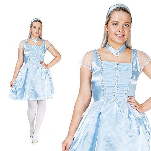 Eisprinzessin Prinzessin Aschenputtel Kostüm Damen (Prinz Aschenputtels Kostüm)