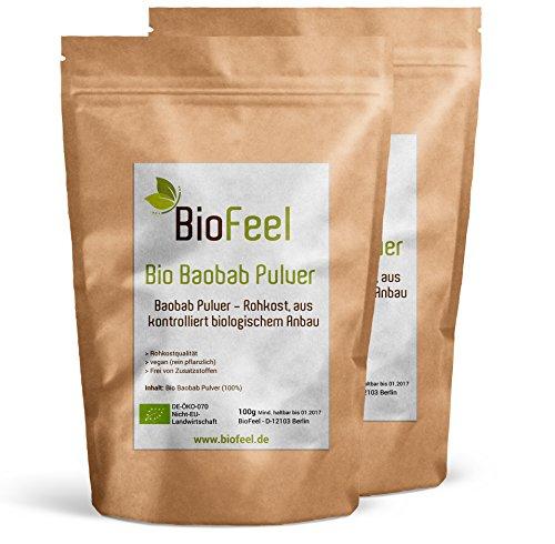 BioFeel - Baobab Pulver - 200g - 2er Pack - Spitzen Bioware -