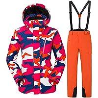 da640b393a1a4 Gski Femme Veste   Pantalons De Ski Chaud, Protection Contre Les  Surcharges, Cap Détachable