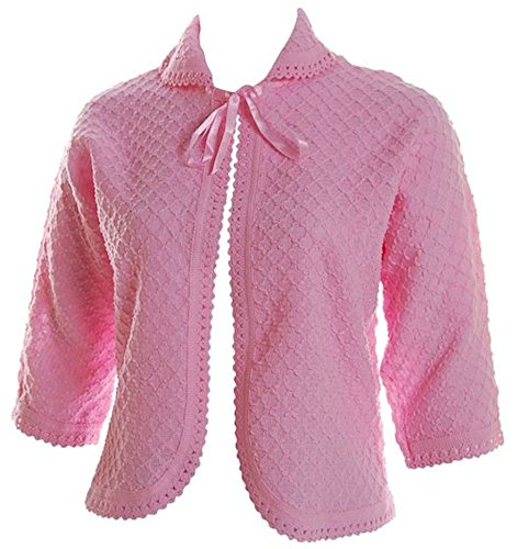 Ladies Knitted Traditional Front Tie Bed Jacket Bolero style ¾ Length sleeves Sizes 8-10, 12-14, 16-18, 20-22, 24-26 - 51mTDTD78fL - Ladies Knitted Traditional Front Tie Bed Jacket Bolero style ¾ Length sleeves Sizes 8-10, 12-14, 16-18, 20-22, 24-26